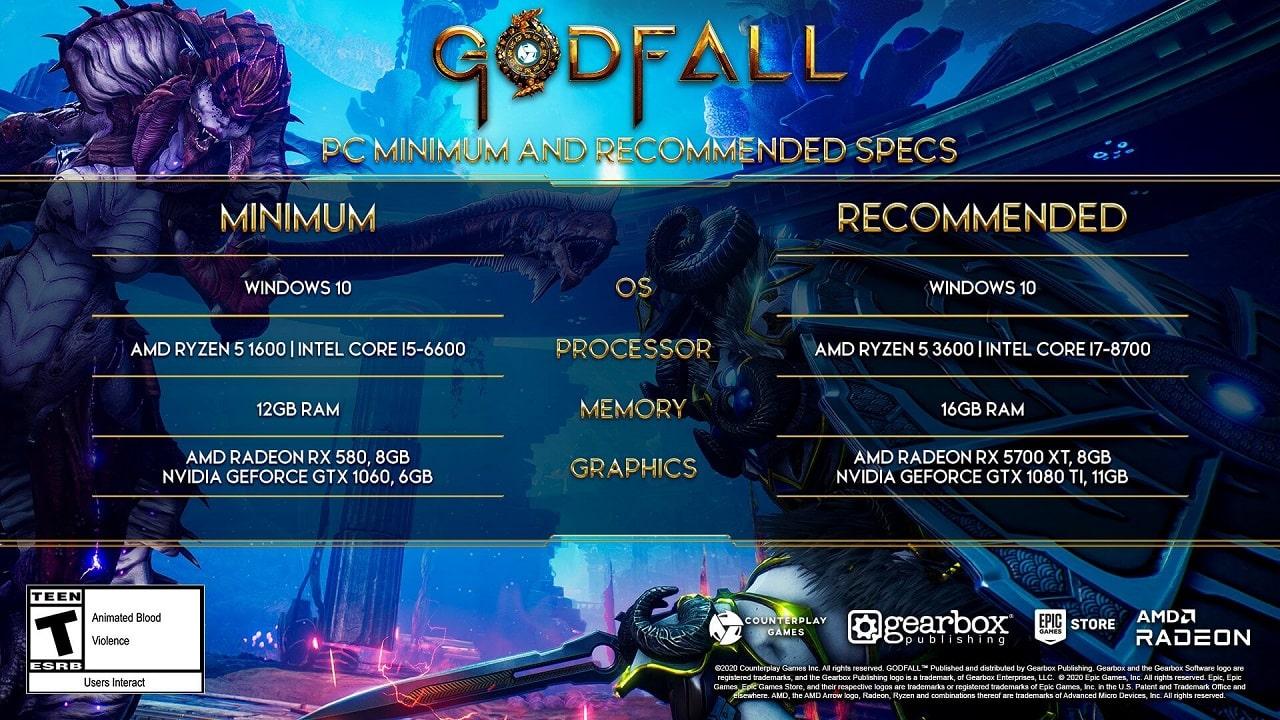 خرید بازی GODFALL برای Pc